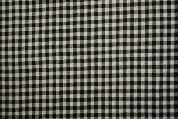 Bawełna vichy - czarna kratka, 5 mm