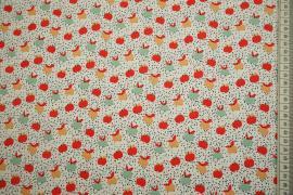 Dzianina - kolorowe jabłka