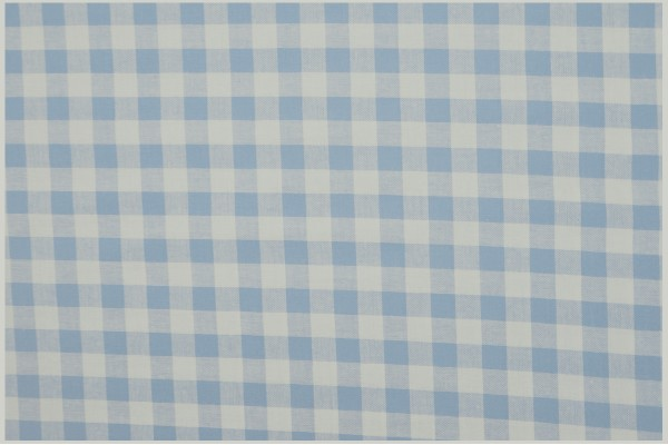 Bawełna vichy 1 cm – light blue