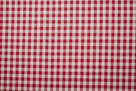Bawełna vichy 1 cm – red