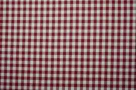 Bawełna vichy 1 cm – bordeux
