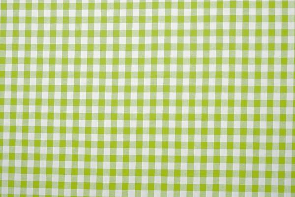 Bawełna vichy 1 cm – lime
