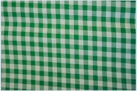 Bawełna vichy 1 cm – green