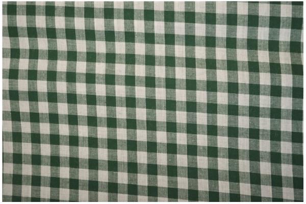 Bawełna vichy 1 cm – bottle green