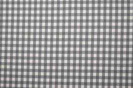 Bawełna vichy 1 cm – grey