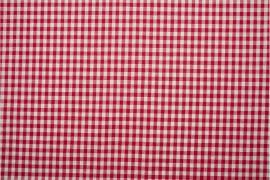 Bawełna vichy 5 mm – red