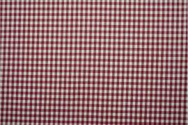 Bawełna vichy 5 mm – bordeux