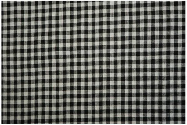 Bawełna vichy 5 mm – black