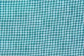Bawełna vichy 3 mm – aqua