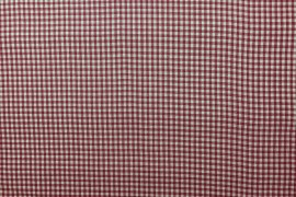 Bawełna vichy 3 mm – bordeux