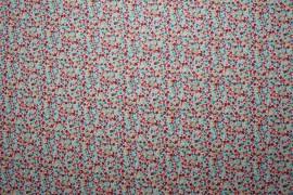 Bawełna drukowana w kolorowe kwadraty