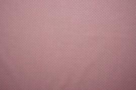 Bawełna - jasnoróżowe tło, białe kropki 2 mm