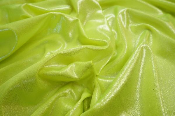 Lycra folia w kolorze zieleni wiosennej