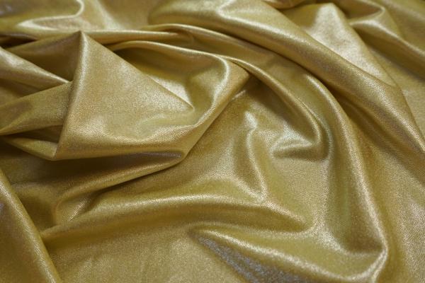Lycra folia w kolorze stare złoto