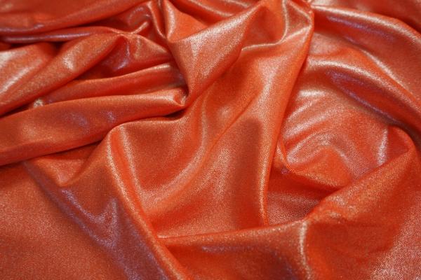 Lycra folia w kolorze pomarańczowym