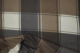 Bawełna pościelowa - brązowa kratka