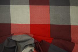 Bawełna pościelowa - czerwona kratka