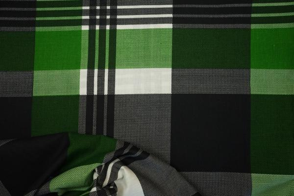 Bawełna pościelowa - zielona kratka