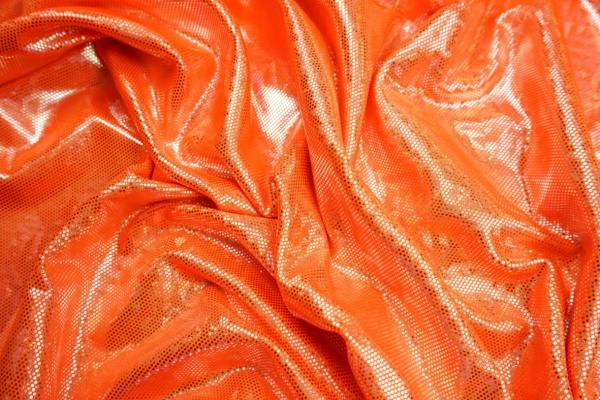 Lycra hologram - kolor pomarańczowy