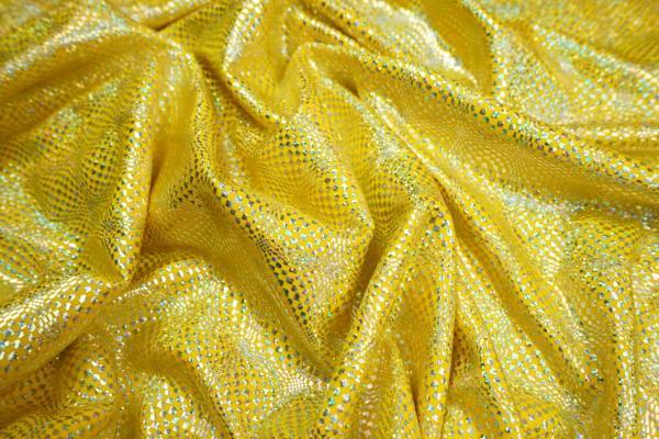 Lycra hologram - kolor żółty