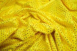 Lycra z cekinami w kolorze żółtym
