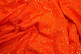 Lycra z cekinami w kolorze pomarańczowym