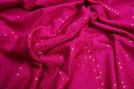 Lycra z cekinami - kolor różowo-fioletowy