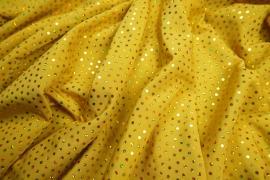 Lycra z cekinami w kolorze złotym
