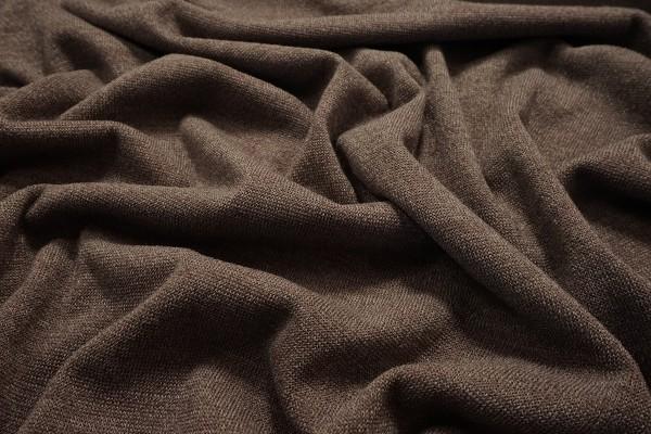 Dzianina swetrowa - jasnobrązowy melanż