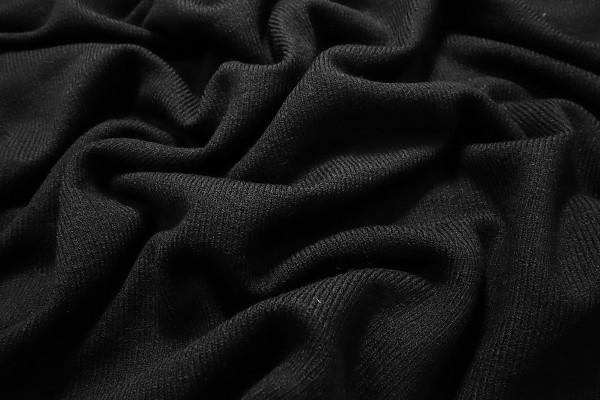 Dzianina swetrowa - ciemnoszary melanż