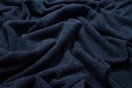 Dzianina swetrowa - jeansowy melanż