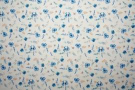 Tkanina sukienkowa - akwarelowe kwiatki