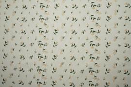 Tkanina sukienkowa - beżowe tulipany