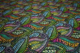 Filc drukowany - kolorowe liście