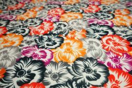 Filc drukowany - kolorowe kwiaty