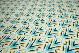 Filc drukowany w kolorowy wzór