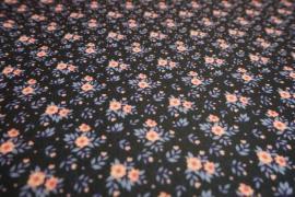 Filc drukowany w drobne kwiatki
