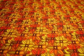 Filc drukowany - pomarańczowe kwiaty
