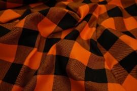 Flanela - pomarańczowa kratka