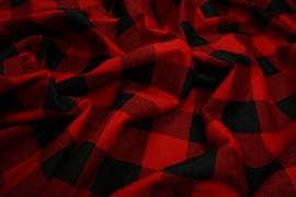 Flanela - czerwona kratka