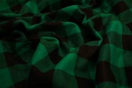Flanela - zielona kratka