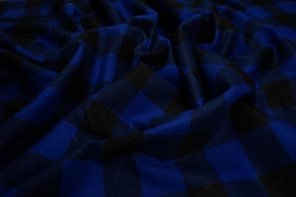 Flanela - niebieska kratka