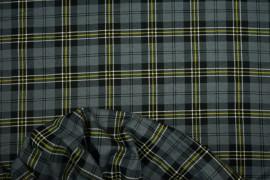 Flanela - szaro-żółta kratka