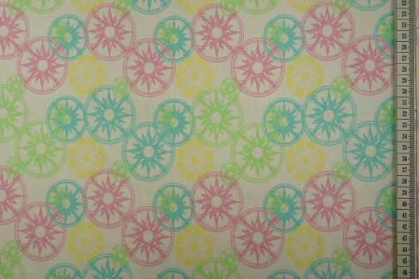 Bawełna z lycrą - kolorowe koła