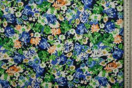 Bawełna z lycrą - drobne kwiatki