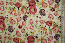 Bawełna z lycrą - kolorowe kwiatki