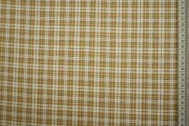 Bawełna z lycrą - beżowa krata