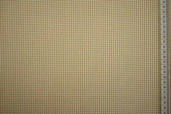 Bawełna z lycrą - beżowa kratka