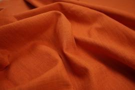 Tkanina lniana w kolorze ceglanym