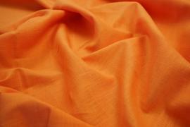 Tkanina lniana w kolorze pomarańczowym